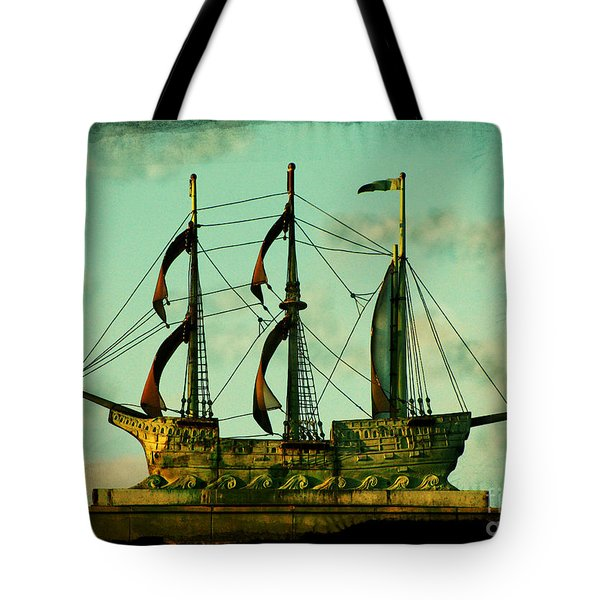 The Copper Ship Tote Bag by Colleen Kammerer