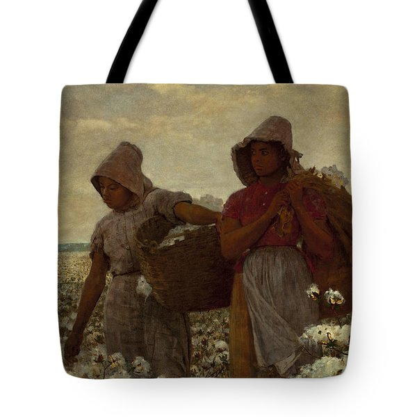 The Cotton Pickers Tote Bag by Winslow Homer