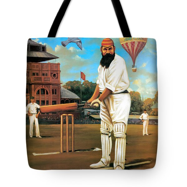 The Cricketers Tote Bag by Peter Green