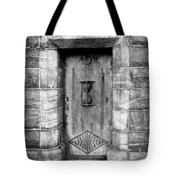 The Crypt Door Tote Bag by Avis  Noelle