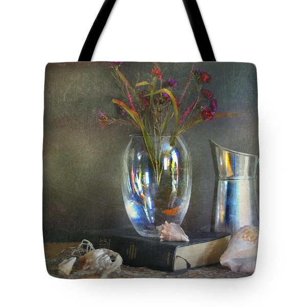 The Crystal Vase Tote Bag by Diana Angstadt
