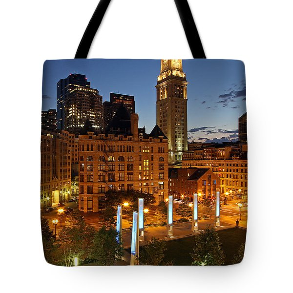 The Custom House of Boston Tote Bag by Juergen Roth