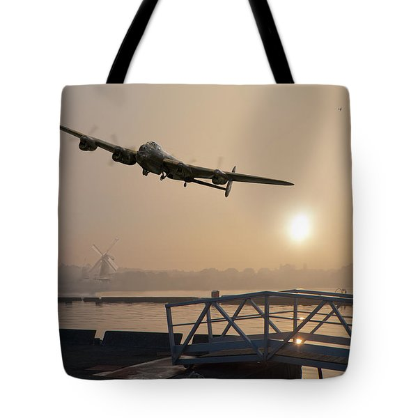 The Dambusters - Last One Home Tote Bag by Gary Eason