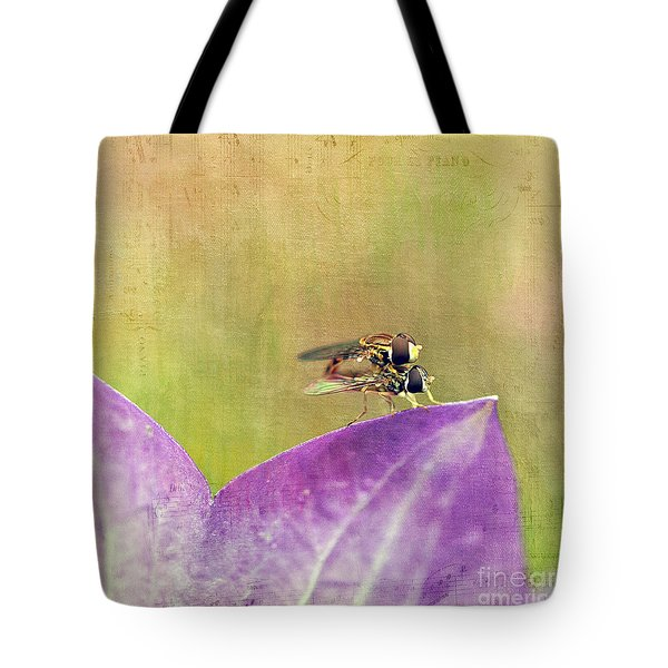The Dance Of The Hoverfly Tote Bag by Cindi Ressler