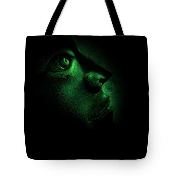 The Darkest Hour Cyan Tote Bag by David Dehner