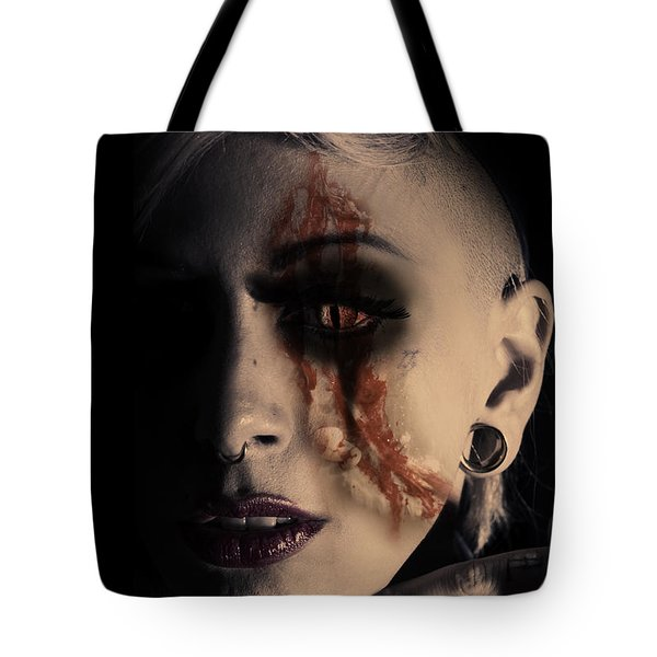 The Darkside Tote Bag by Nathan Wright