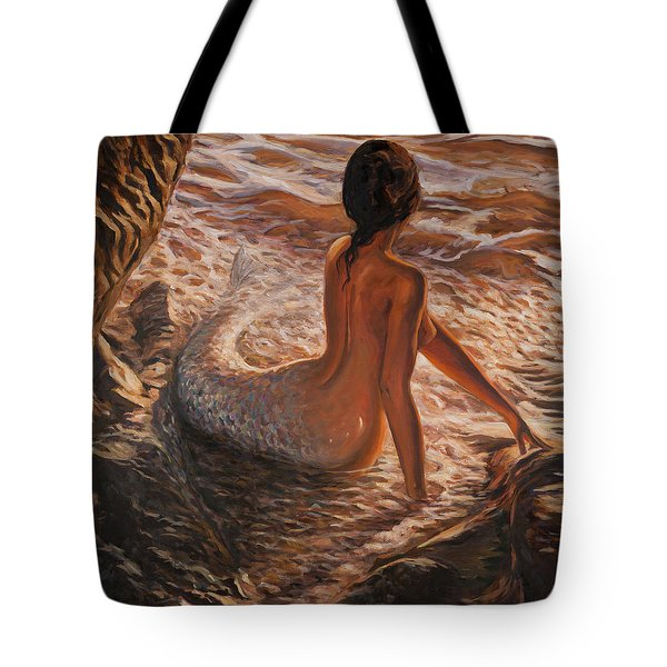 The Daughter Of The Sea Tote Bag by Marco Busoni