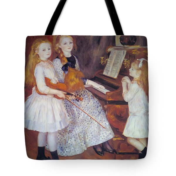 The Daughters of Catulle Mendes Tote Bag by Pierre Auguste Renoir
