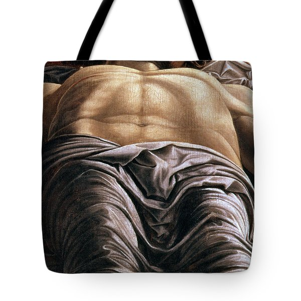The Dead Christ Tote Bag by Andrea Mantegna