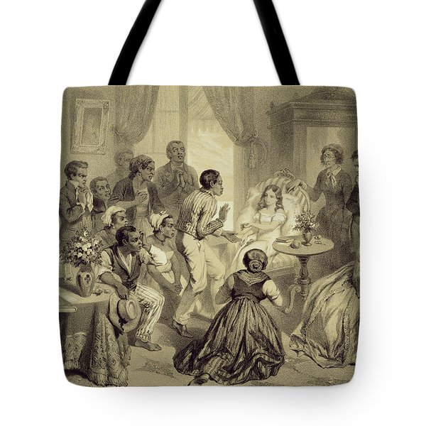 The Death Of Evangeline, Plate 6 Tote Bag by Adolphe Jean-Baptiste Bayot