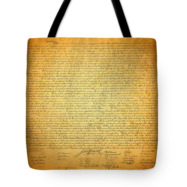 The Declaration Of Independence - America's Founding Document Tote Bag by Design Turnpike