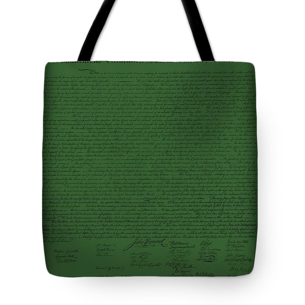 THE DECLARATION OF INDEPENDENCE in OLIVE Tote Bag by ROB HANS