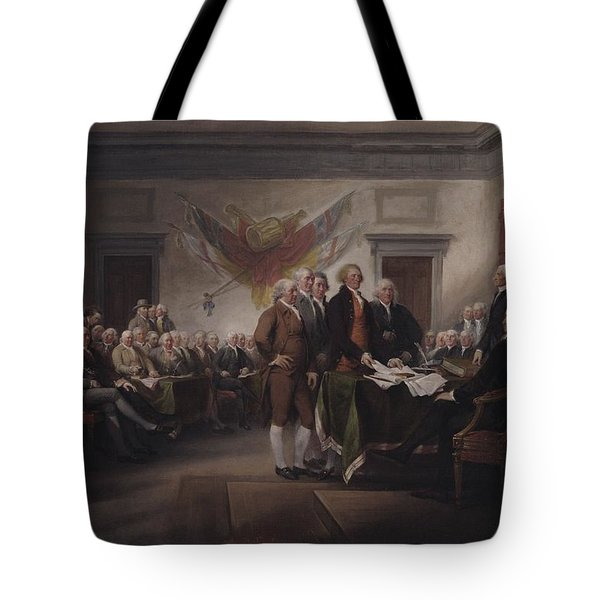 The Declaration Of Independence, July 4, 1776 Tote Bag by John Trumbull