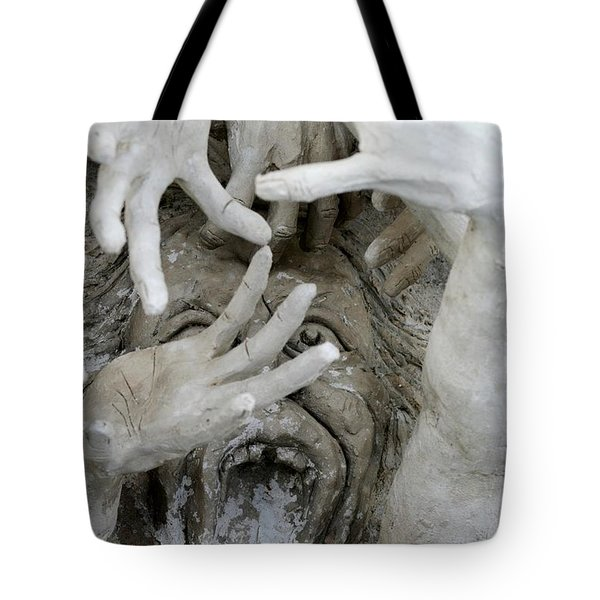 The Descension Of The Consumer Tote Bag by Nola Lee Kelsey