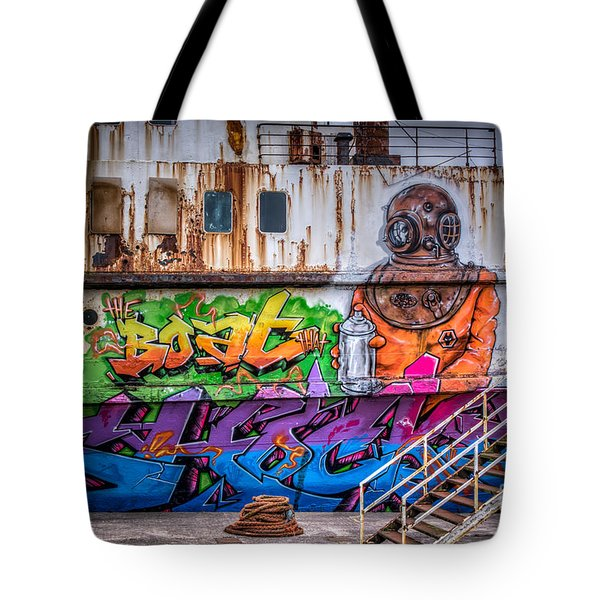The Diver Tote Bag by Adrian Evans