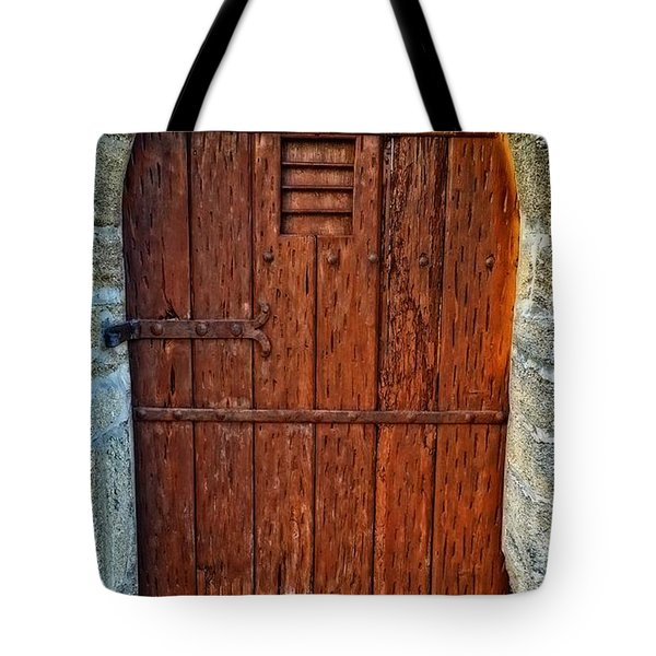 The Door - Vintage Art By Sharon Cummings Tote Bag by Sharon Cummings