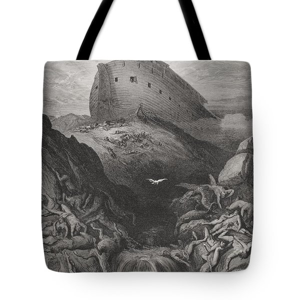 The Dove Sent Forth From The Ark Tote Bag by Gustave Dore