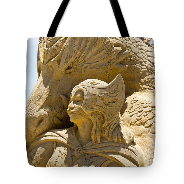 The Dragon And The Goddess Tote Bag by Tom Gari Gallery-Three-Photography