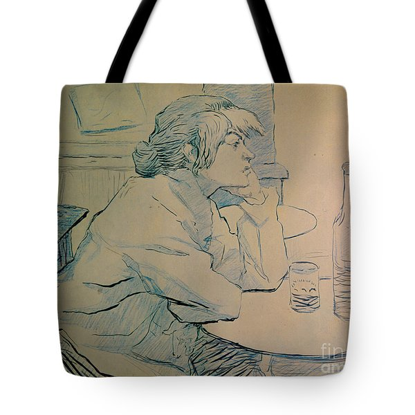 The Drinker Or An Hangover Tote Bag by Henri de Toulouse-lautrec