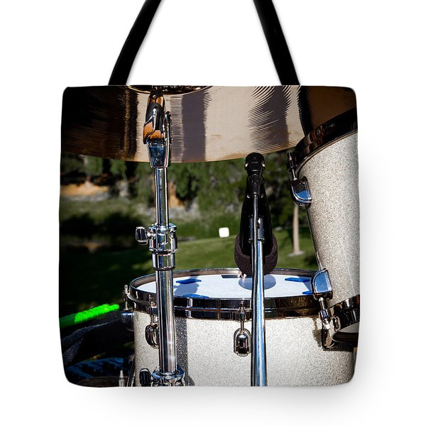 The Drum Set Tote Bag by David Patterson