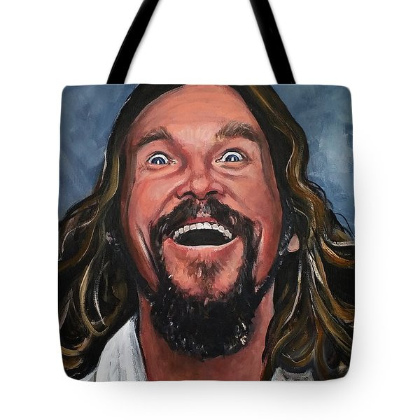 The Dude Tote Bag by Tom Carlton