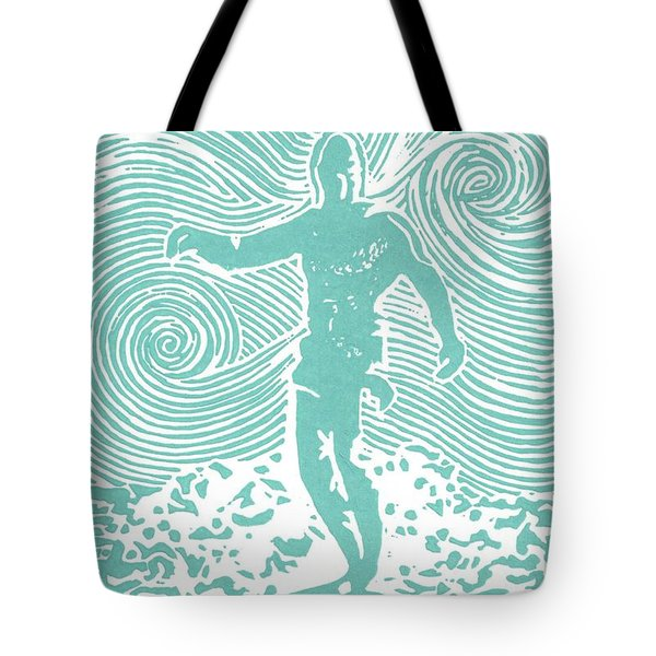 The Duke in Aqua Tote Bag by Stephanie Troxell