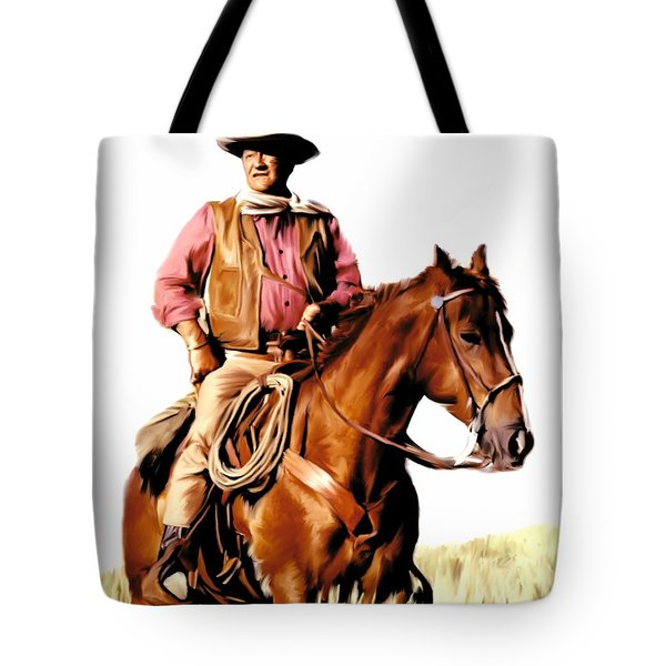 The Duke  John Wayne Tote Bag by Iconic Images Art Gallery David Pucciarelli