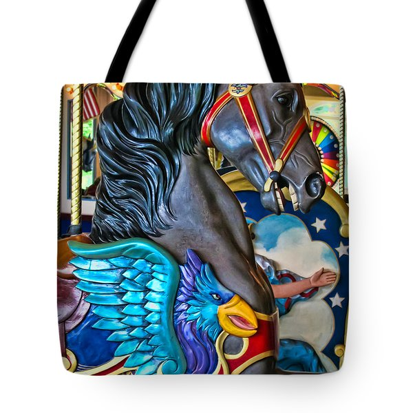 The Eagle And Horse Tote Bag by Colleen Kammerer