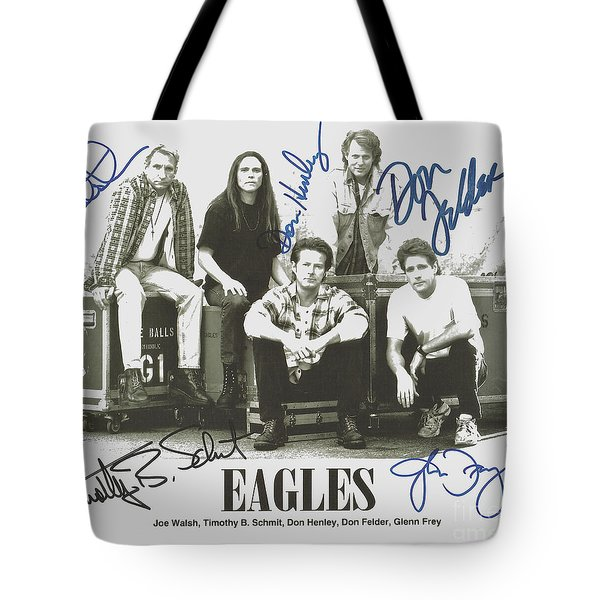 The Eagles Autographed Tote Bag by Desiderata Gallery