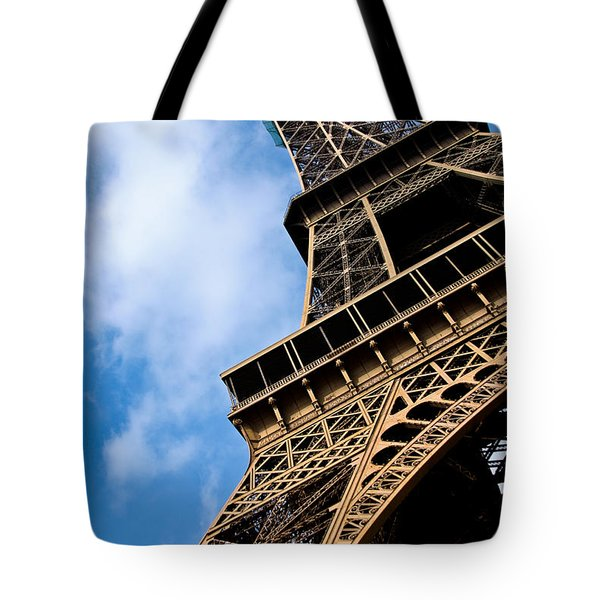 The Eiffel Tower From Below Tote Bag by Nila Newsom