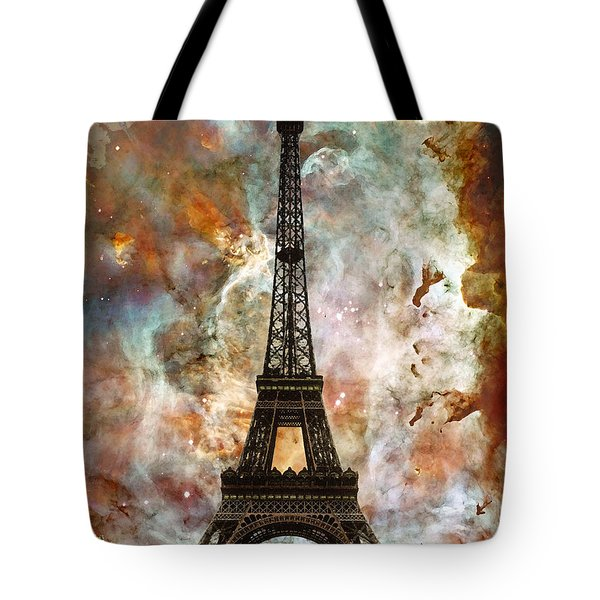 The Eiffel Tower - Paris France Art By Sharon Cummings Tote Bag by Sharon Cummings