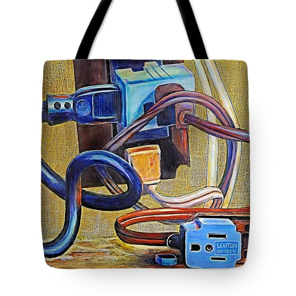 The Electronic Age Tote Bag by JAXINE Cummins