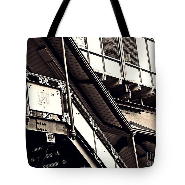 The Elevated Station At 125th Street 2 Tote Bag by Sarah Loft