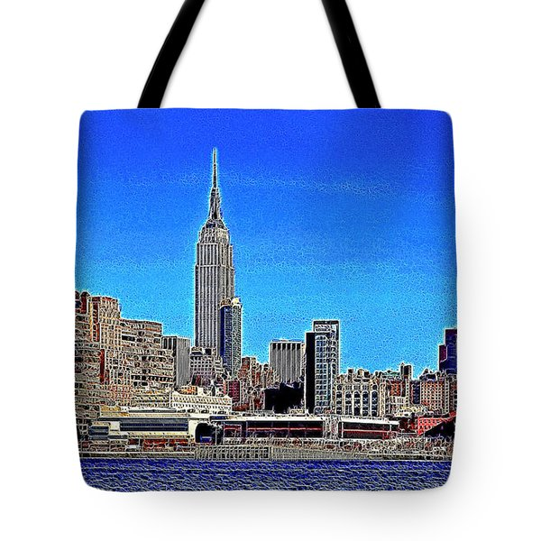 The Empire State Building and The New York Skyline 20130430 Tote Bag by Wingsdomain Art and Photography