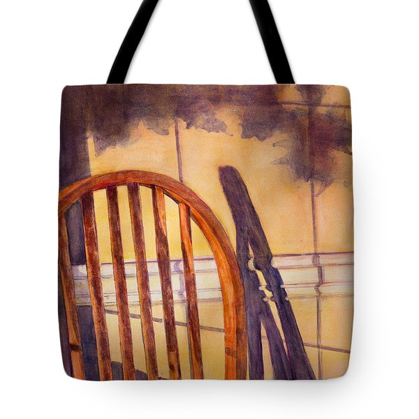 The Empty Chair Tote Bag by Janet Felts