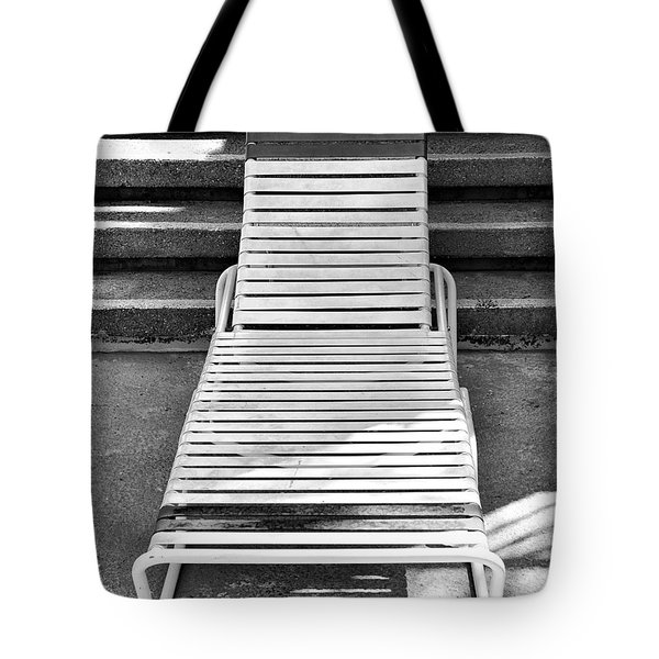 The Empty Chaise Palm Springs Tote Bag by William Dey