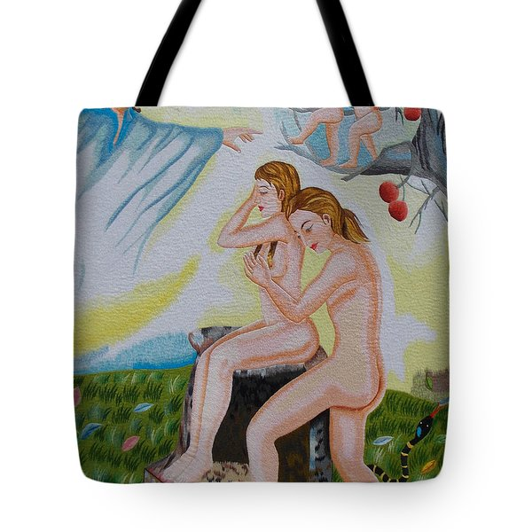 The Expulsion hand embroidery Tote Bag by To-Tam Gerwe