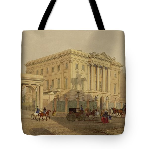 The Exterior Of Apsley House, 1853 Tote Bag by English School