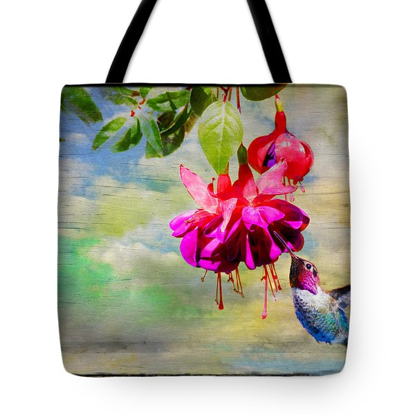 The Face Of Fuchsia Tote Bag by Lynn Bauer