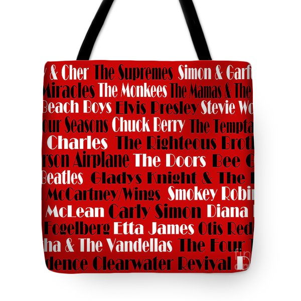 The Faces Of Rock And Roll 2  Tote Bag by Andee Design