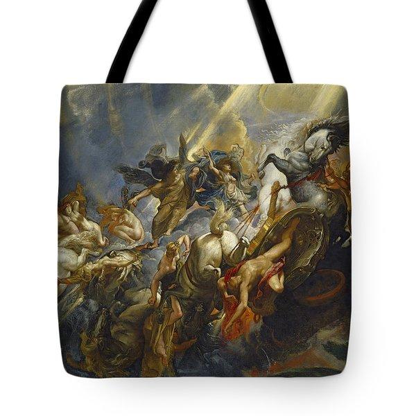 The Fall Of Phaeton Tote Bag by  Peter Paul Rubens