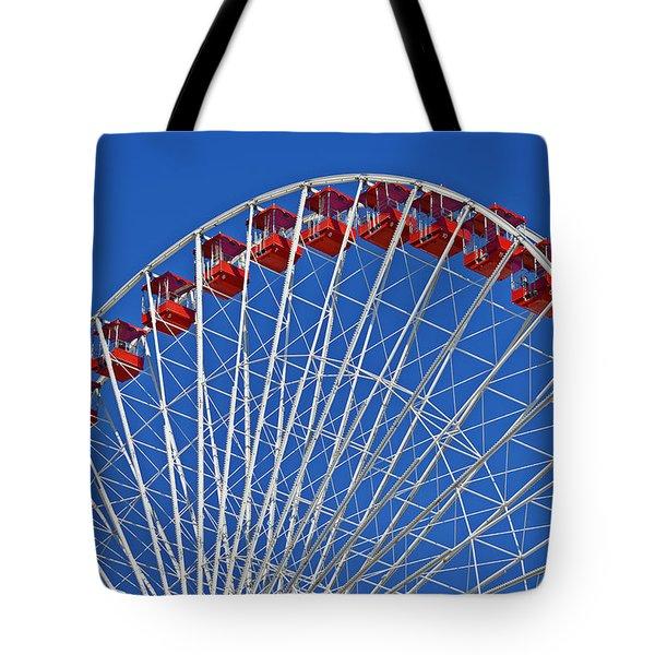 The Ferris Wheel Chicago Tote Bag by Christine Till