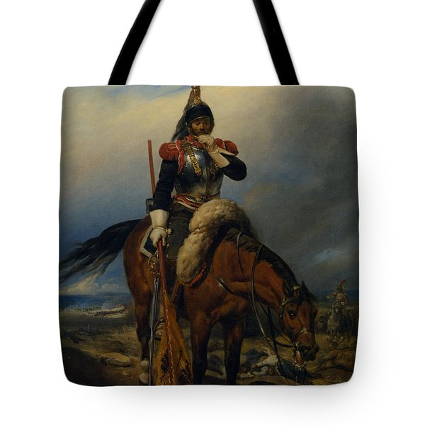 The Field Of Battle Tote Bag by Paul  Delaroche