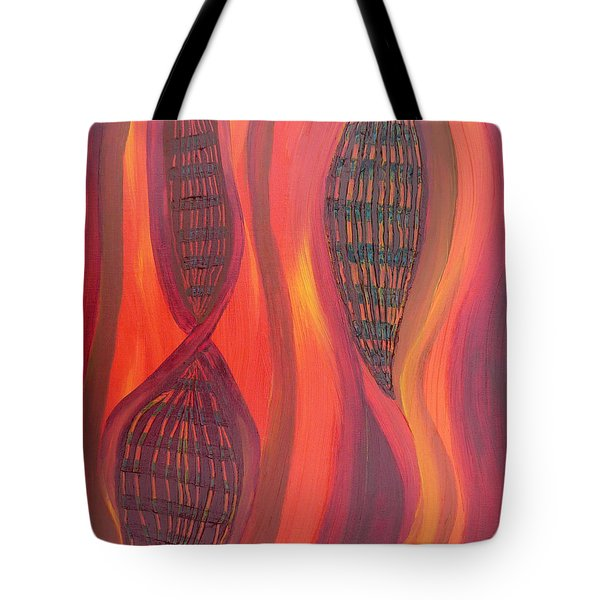 The Fire Molecule Tote Bag by Daina White