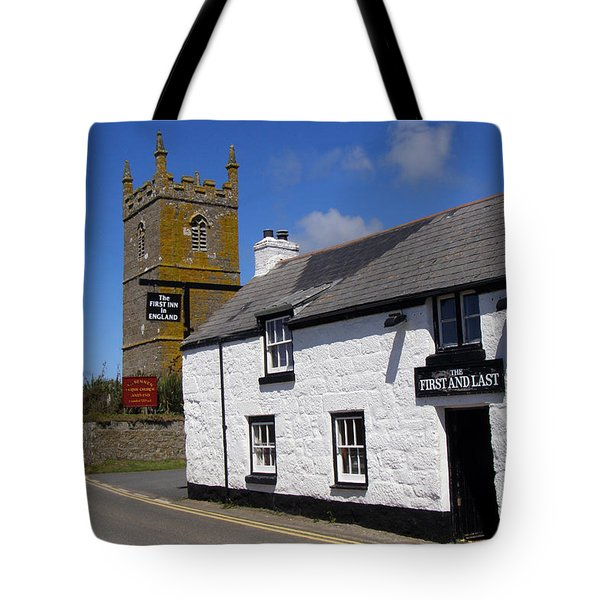 The First and Last Inn in England Tote Bag by Terri  Waters