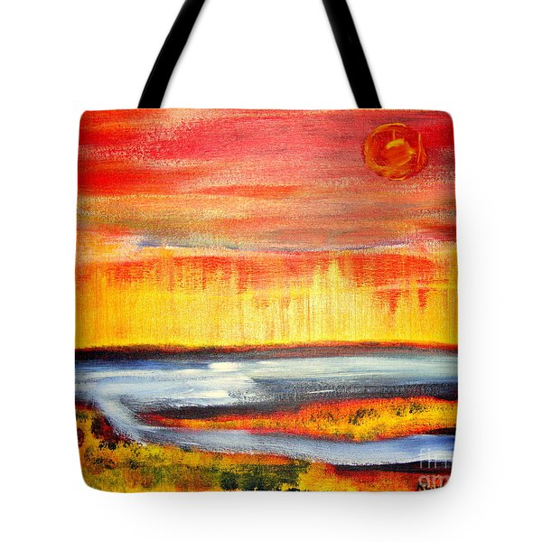 The First Handcart Is Faith Tote Bag by Richard W Linford