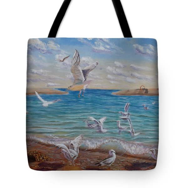 The First Inhabitants Of The New Land Tote Bag by Elena Sokolova