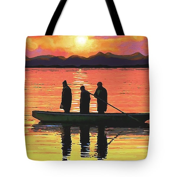 The Fishermen Tote Bag by SophiaArt Gallery