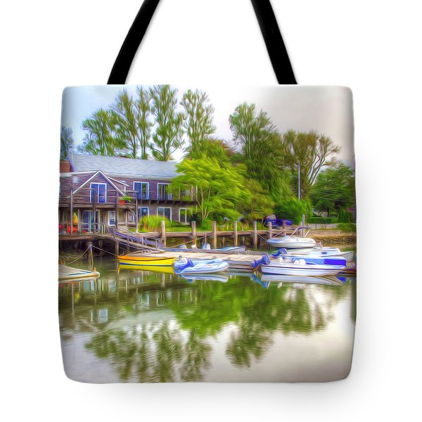 The Fishing Village Tote Bag by Lanjee Chee
