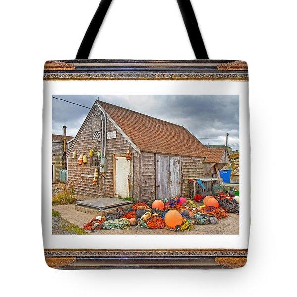 The Fishing Village Scene Tote Bag by Betsy C Knapp